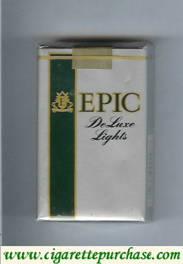 Epic De Luxe Lights silver Menthol cigarettes soft box