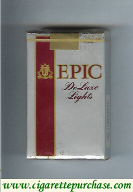 Epic De Luxe Lights silver cigarettes soft box