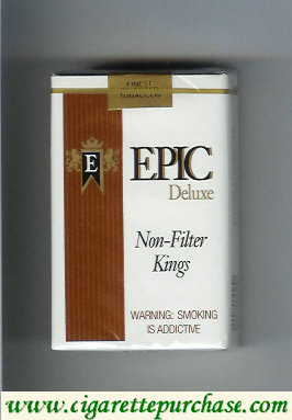 Epic Deluxe Non-Filter Kings white cigarettes soft box