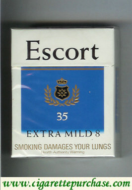 Escort Extra Mild 8 35s cigarettes hard box