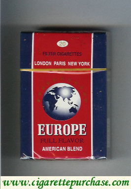 Europe Filter Cigarettes Full Flavor American Blend hard box