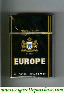 Europe American Blend King Size Cigarettes hard box