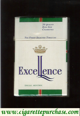 Excellence Special Menthol cigarettes hard box