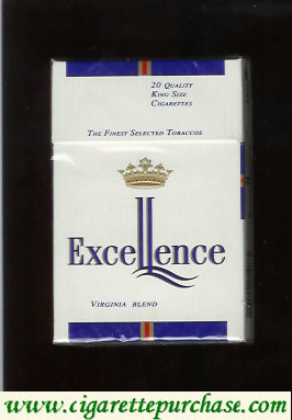 Excellence Virginia Blend cigarettes hard box
