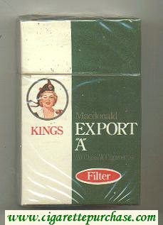 Discount Export 'A' Macdonald Kings Filter cigarettes wide flat hard box