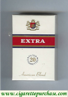 Discount Extra 20 Filter Cigarettes American Blend hard box