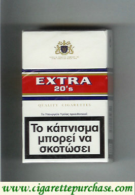 Discount Extra 20's Quality Cigarettes hard box