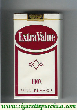 Discount Extra Value 100s cigarettes Full Flavor soft box