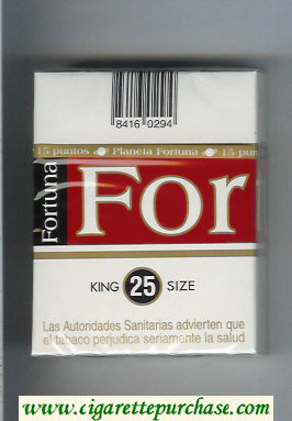 Discount Fortuna King Size 25s cigarettes hard box