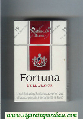 Discount Fortuna American Blend Full Flavor cigarettes hard box