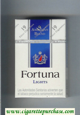 Discount Fortuna American Blend Lights cigarettes hard box