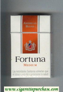 Discount Fortuna American Blend Medium cigarettes hard box