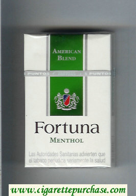 Discount Fortuna American Blend Menthol cigarettes hard box