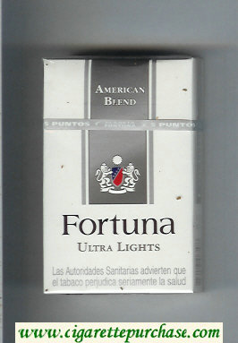 Discount Fortuna American Blend Ultra Lights cigarettes hard box