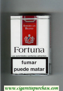 Discount Fortuna American Blend white and red cigarettes soft box