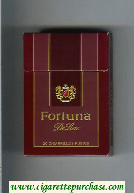 Discount Fortuna De Luxe cigarettes hard box