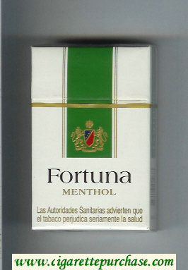 Discount Fortuna Menthol cigarettes hard box