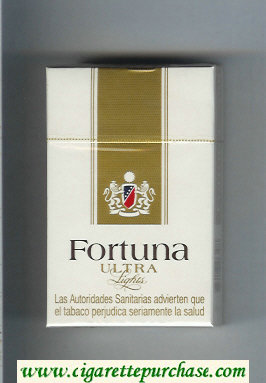 Discount Fortuna Ultra Lights cigarettes hard box