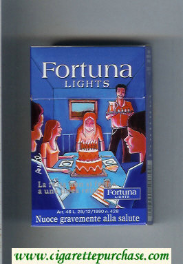 Discount Fortuna Lights cigarettes hard box