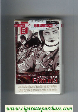 Discount Fortuna Racing Team Carlos Sainz cigarettes soft box