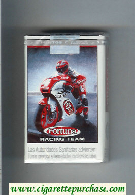 Discount Fortuna Racing Team Full Flavor American Blend cigarettes soft box