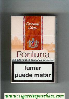 Discount Fortuna. Oriental Origin cigarettes hard box
