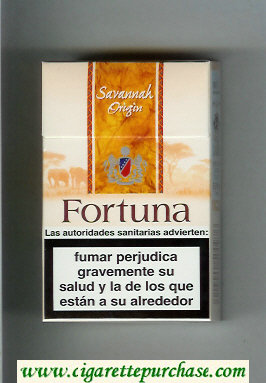 Discount Fortuna. Savannah Origin cigarettes hard box