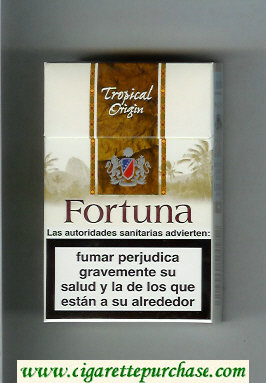 Discount Fortuna. Tropical Origin cigarettes hard box