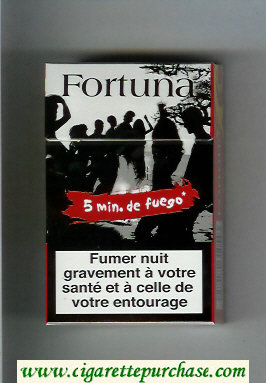 Discount Fortuna. cigarettes Smin.de Fuego red hard box