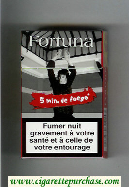 Discount Fortuna. Smin.de Fuego red hard box cigarettes