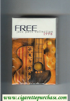 Free 1998 Jazz Pack Collection Cigarettes hard box