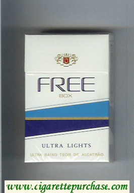Free Box Ultra Lights Cigarettes hard box
