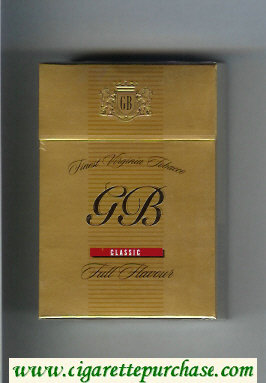 GB Classic Full Flavour cigarettes hard box