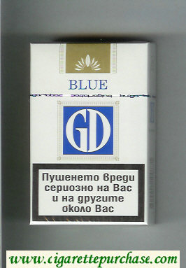 GD Blue cigarettes hard box