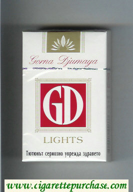 GD Gorna Djumaya Lights white and red cigarettes hard box