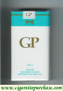 GP 100s Filter Menthol Lights premium cigarettes soft box