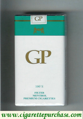 GP 100s Filter Menthol premium cigarettes soft box
