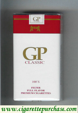 GP Classic 100s Filter Full Flavor premium cigarettes soft box