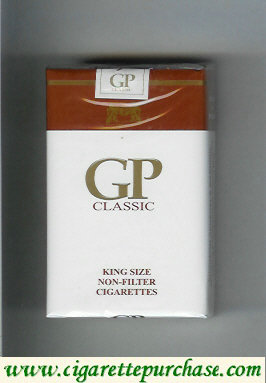 GP Classic King Size Non-Filter cigarettes soft box