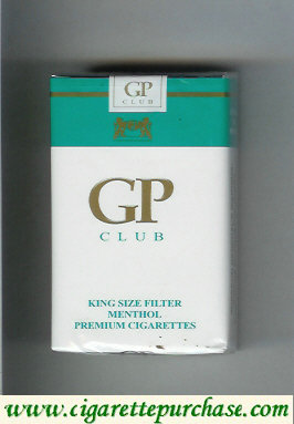 GP Club King Size Filter Menthol premium cigarettes soft box