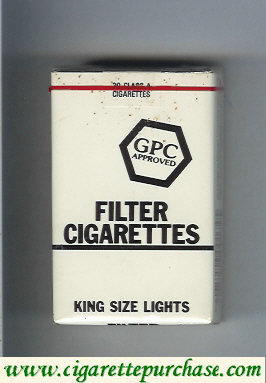 Discount GPC Approved Filter Cigarettes King Size Lights soft box
