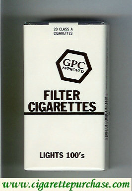 Discount GPC Approved Filter Cigarettes Lights 100s soft box