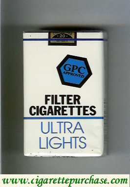 Discount GPC Approved Filter Cigarettes Ultra Lights soft box
