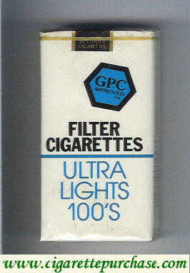 Discount GPC Approved Filter Cigarettes Ultra Lights 100s soft box
