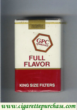 Discount GPC Approved Full Flavor King Size Filters Cigarettes soft box