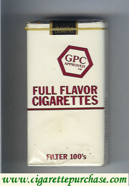 Discount GPC Approved Full Flavor Cigarettes Filter 100s Cigarettes soft box