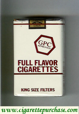 Discount GPC Approved Full Flavor Cigarettes King Size Filters soft box