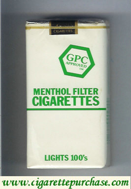 Discount GPC Approved Menthol Filter Cigarettes Lights 100s soft box