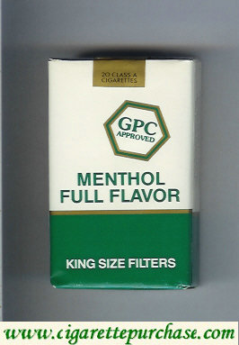 Discount GPC Approved Menthol Full Flavor King Size Filters Cigarettes soft box