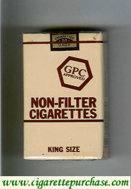 Discount GPC Approved Non-Filter Cigarettes King Size soft box